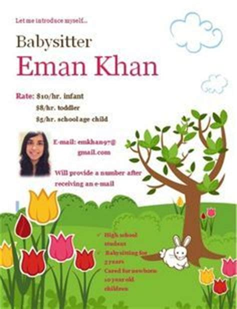 Resume templates for babysitters